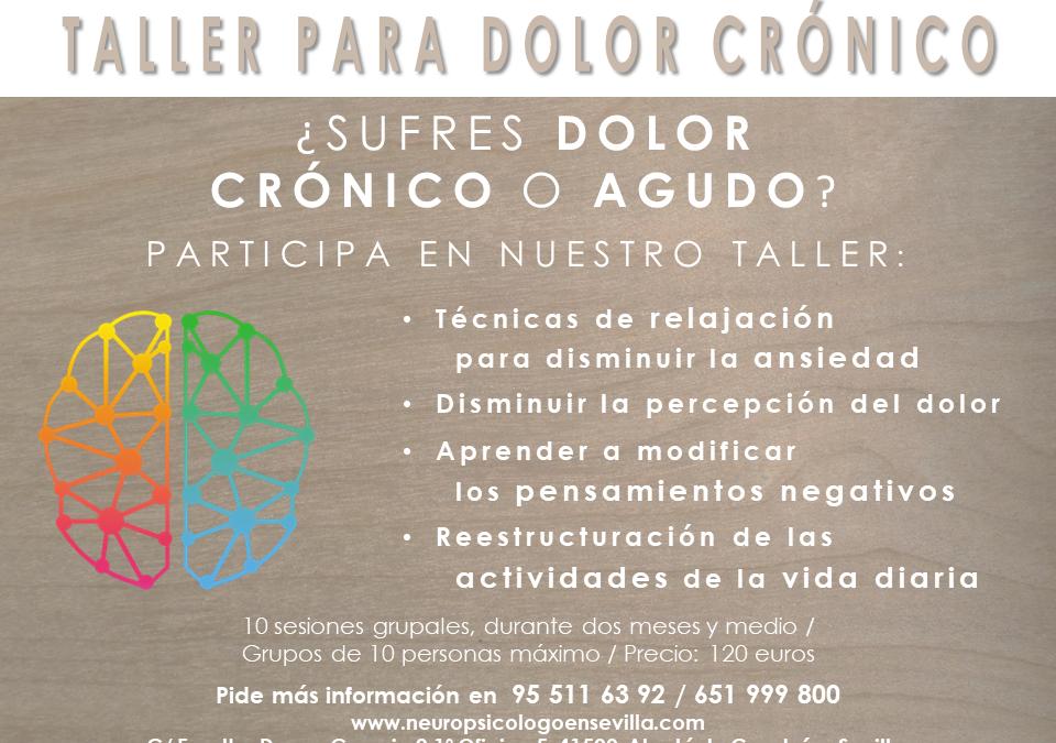 Taller tratar Dolor Crónico desde la Psicología