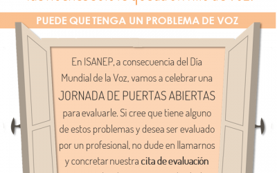 ¿PROBLEMAS CON SU VOZ? Jornadas de Puertas Abiertas para EVALUACIÓN PROFESIONAL DE SU VOZ