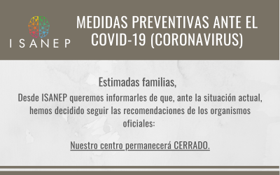 Medidas preventivas ante el covid-19 (coronavirus)