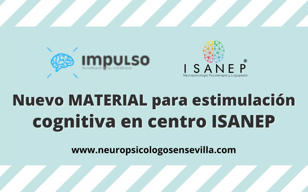 Nuevo MATERIAL para estimulación cognitiva en centro ISANEP