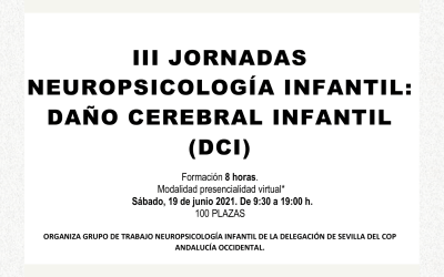 III Jornadas Neuropsicología infantil: daño cerebral infantil (DCI)